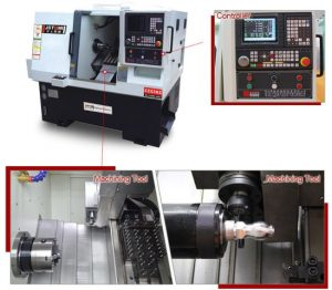 4-axis complex cnc lathe machine tool
