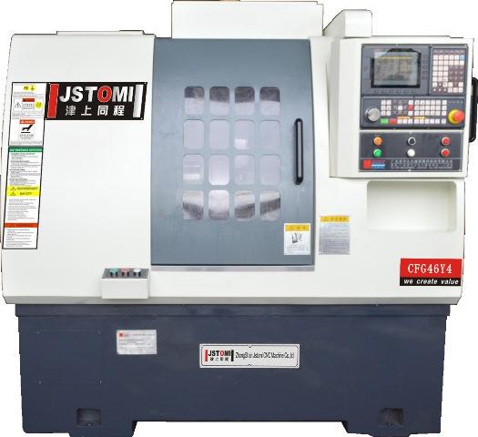 نمایی کلی از دستگاه سی ان سی تراش مدل CFG46Y4 محصول شرکت جی اس تامی - نقدوبررس توسط مهندسین شرکت نبات - Slant bed