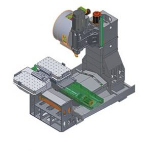 نمای سه بعدی - مدل شده - ماشین سی ان سی JT - VL - 850