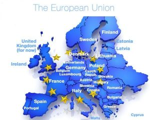 Map of european Union - www.nabat.biz - خریطه الاتحاد الأوروبی - Mapa Evropské unie - Carte de l'Union européenne - Avrupa Birliği Haritası - Avrupa Birliği Haritası - Mappa di Unione Europea
