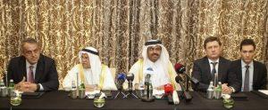 Oil ministers of qatar, russia, venezuelan, saudi arabia in qatar country - Via NABAT.Biz