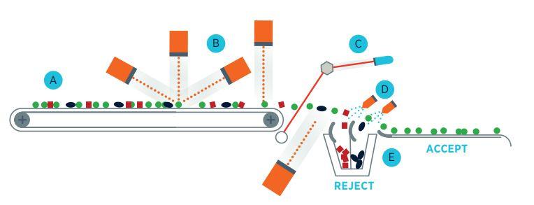 Genius 1600 - دستگاه سورتر - سورتر - دستگاه سورتینگ - سورتینگ Tomra - سورتینگ مواد غذایی - کالر سورتر - سورتینگ خرما - سورتینگ اسفناج - سورتینگ سیبزمینی - سورتینگ نخود فرنگی - sorting machine - sorter - Tomra sorting machine - صنعت سورت - عملیات سورتینگ - فرآیند سورتینگ - نحوه عملکرد دستگاه سورتینگ - مکانیزم دستگاه سورتینگ