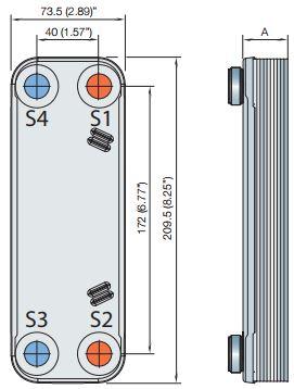 CB16-مبدل حرارتی صفحهای جوشی-مبدل جوشی آلفالاوال-مبدل حرارتی-Alfalaval brazed plate heat exchanger-