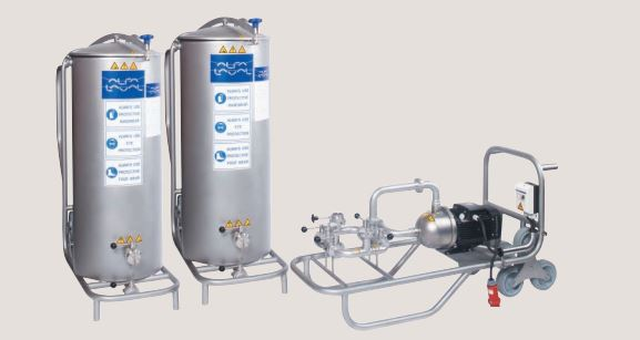400L-سیستم CIP مدل 200LTS-سیستم شستشو در محل-سیستم شستشو در مکان-سیستم شستشو در جا-سیستم CIP شرکت آلفالاوال-تمیز کردن مبدلهای حرارتی-شستشوی مبدلهای حرارتی-