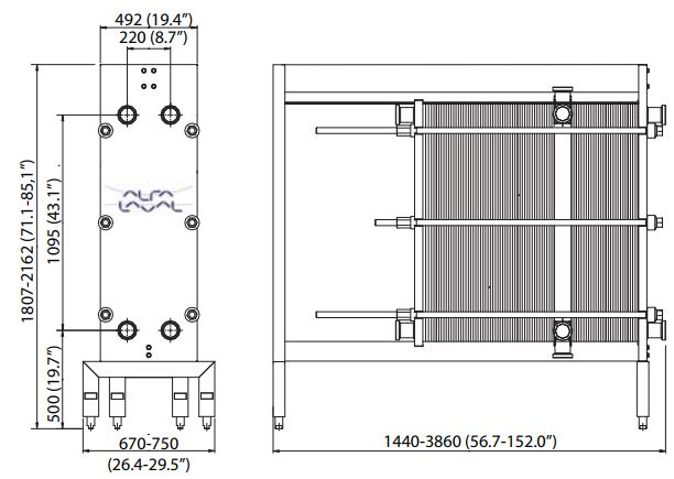 Front 8 -مبدل حرارتی صفحهای آلفالاوال-مبدل حرارتی قاب و صفحه-پاستوریزاسیون-پاستوریزاتور-Alfalaval plate heat exchanger-frame and plate heat exchanger-