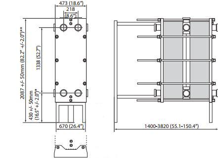 Base 11-مبدل حرارتی صفحهای واشردار آلفالاوال-پاستوریزاسیون-خنک کردن شیر-مبدل حرارتی صنایع لبنی-Alfalaval gasketed plate heat exchanger-frame and plate heat exchanger-