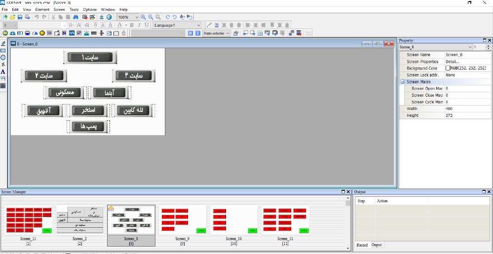 DOP-B010E615-سیستم HMI محصول شرکت دلتا-